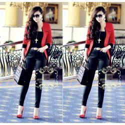Áo khoác vest nữ viền tay lỡ giống bella - AV2961