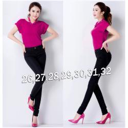 Quần jean nữ đen lưng cao 1 nút cực hot - AV3195
