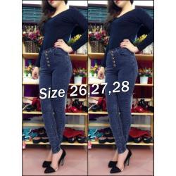 Quần jean nữ lưng cao 5 nút cực xinh - AV3432